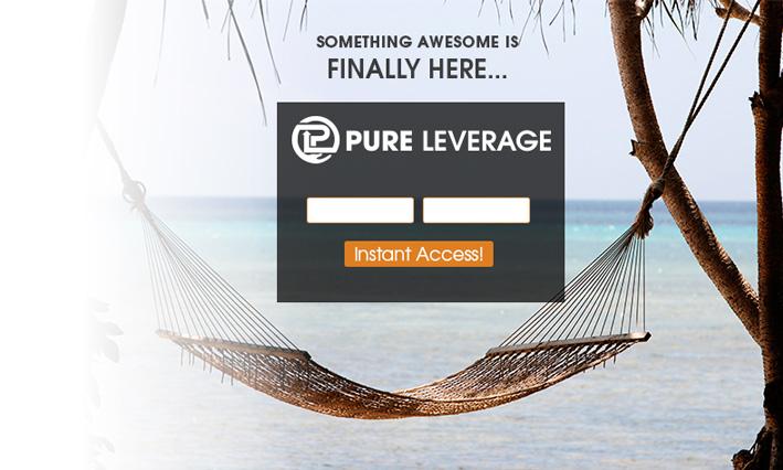 pure leverage capture page